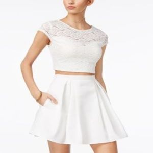 Teeze Me Fit & Flare Skirt Off White Size 7